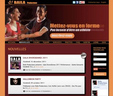 Développement de site Web pour école de danse en France